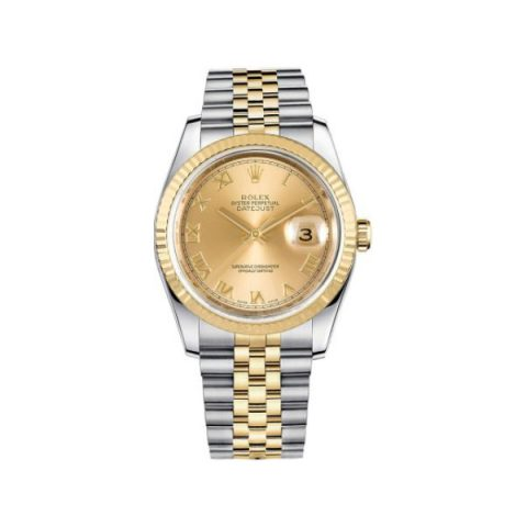 ROLEX DATEJUST 18KT YELLOW GOLD 36MM MEN'S WATCH