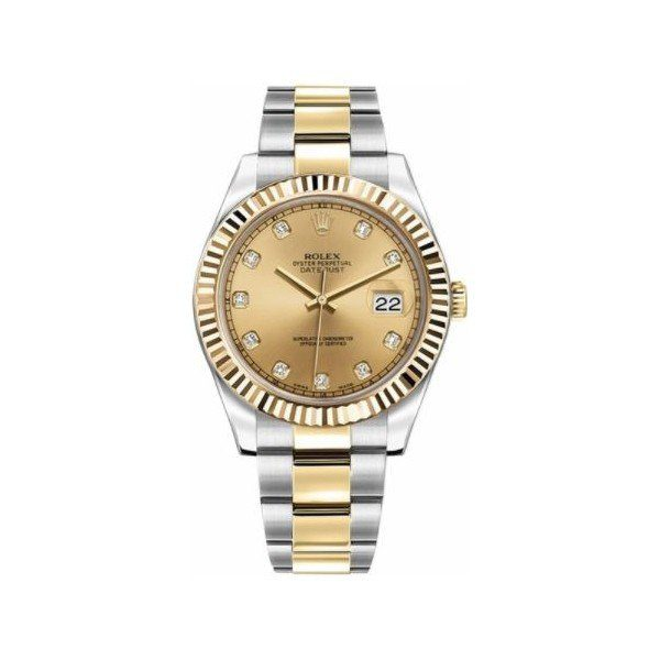 ROLEX OYSTER PERPETUAL DATEJUST II 18KT YELLOW GOLD & STAINLESS STEEL 41MM MEN'S WATCH