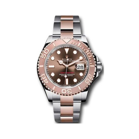 ROLEX OYSTER PERPETUAL YACHT MASTER 18KT ROSE GOLD & STAINLESS STEEL 40MM MEN'S WATCH