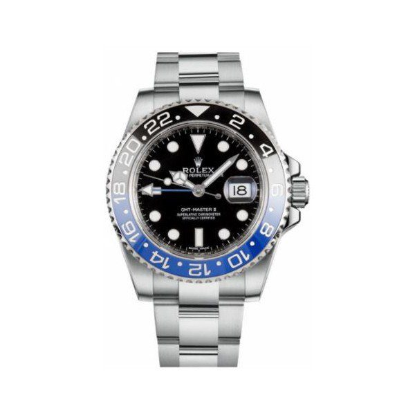 ROLEX GMT MASTER II STAINLESS STEEL 40MM MEN'S WATCH