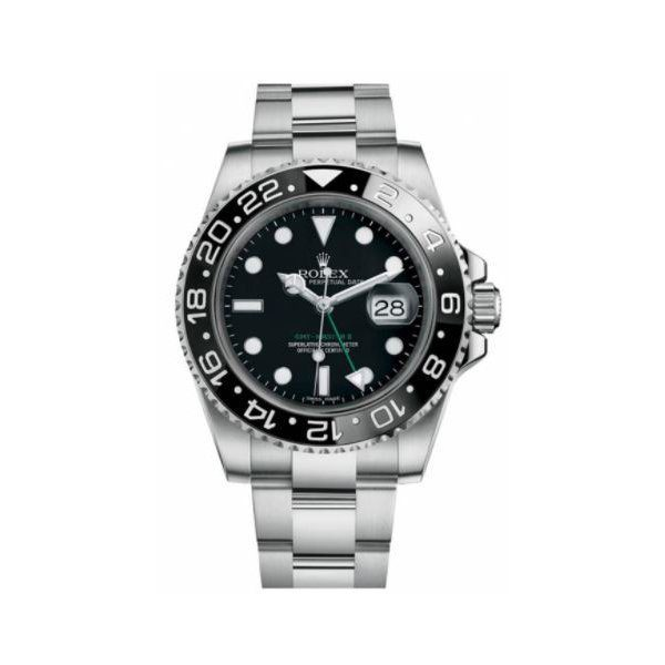 PROFESSIONAL ROLEX GMT MASTER II STAINLESS STEEL 40MM MENS WATCH