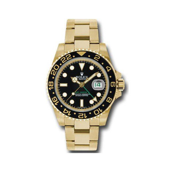 PROFESSIONAL ROLEX GMT MASTER II 18KT YELLOW GOLD 40MM MEN'S WATCH