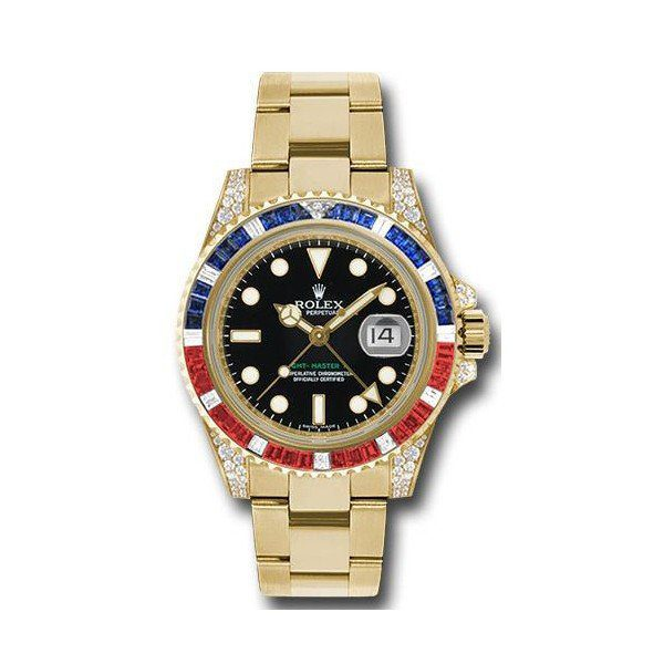 ROLEX GMT MASTER II 18KT YELLOW GOLD 40MM MEN'S WATCH