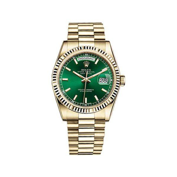 ROLEX DAY DATE 18KT YELLOW GOLD 36MM UNISEX WATCH