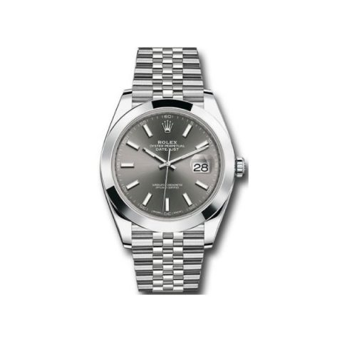 ROLEX OYSTER PERPETUAL DATEJUST STAINLESS STEEL 41MM MEN'S WATCH