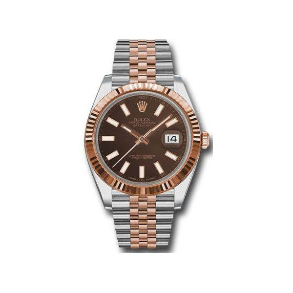 ROLEX OYSTER PERPETUAL DATEJUST 18KT ROSE GOLD 41MM MEN'S WATCH