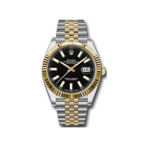 Rolex Pre-owned Oyster Perpetual Datejust 18kt Yellow Gold & Stainless Steel 41mm Men's Watch
