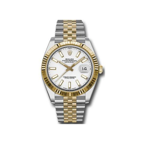 ROLEX DATEJUST STAINLESS STEEL & 18KT YELLOW GOLD 41MM MEN'S WATCH