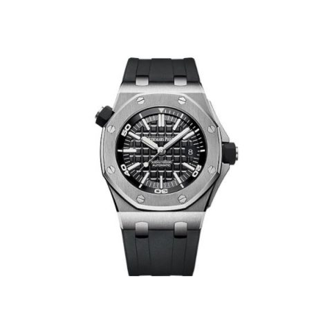 AUDEMARS PIGUET ROYAL OAK OFFSHORE DIVER STAINLESS STEEL 42MM X 55MM BLACK DIAL MEN'S WATCH