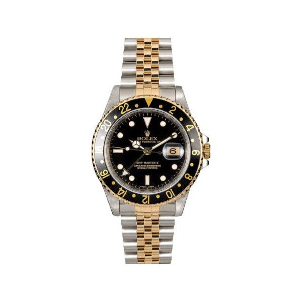 ROLEX GMT MASTER II STAINLESS STEEL & 18KT YELLOW GOLD 40MM MEN'S WATCH