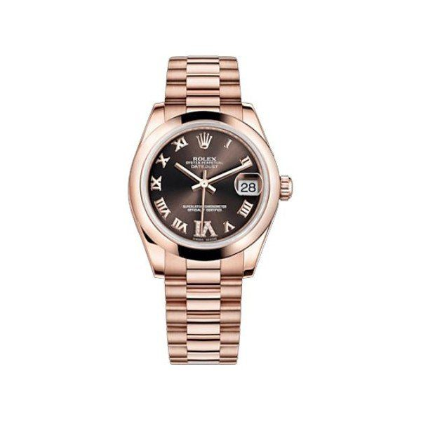 ROLEX DATEJUST 18KT ROSE GOLD 31MM LADIES WATCH