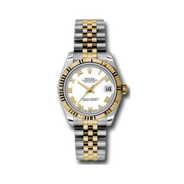 ROLEX OYSTER PERPETUAL DATEJUST STAINLESS STEEL 31MM LADIES WATCH