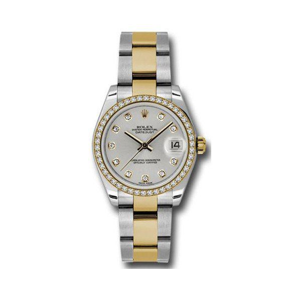ROLEX DATEJUST STAINLESS STEEL 31MM LADIES WATCH