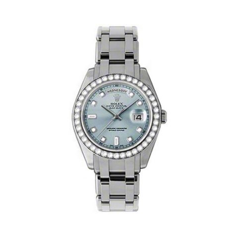 ROLEX DAY DATE SPECIAL EDITION STAINLESS STEEL 39MM LADIES WATCH