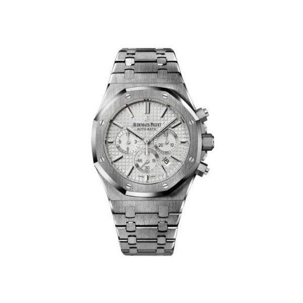 AUDEMARS PIGUET ROYAL OAK STAINLESS STEEL 41MM SILVER DIAL MEN'S WATCH