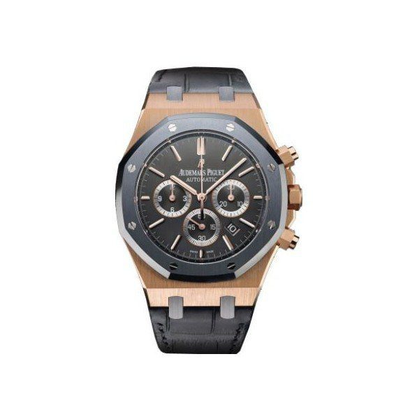 AUDEMARS PIGUET ROYAL OAK LEO MESSI 18KT ROSE GOLD 41MM ANTHRACITE DIAL MEN'S WATCH