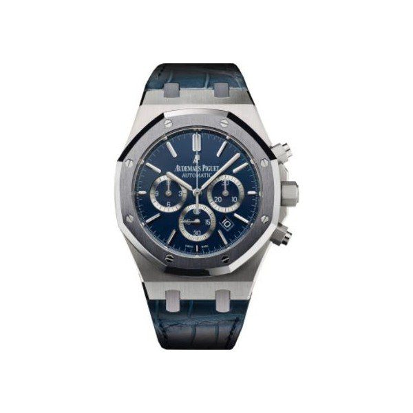 AUDEMARS PIGUET ROYAL OAK LEO MESSI PLATINUM 41MM DARK BLUE DIAL MEN'S WATCH
