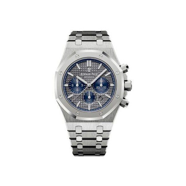AUDEMARS PIGUET ROYAL OAK TITANIUM & PLATINUM 41MM GREY DIAL MEN'S WATCH