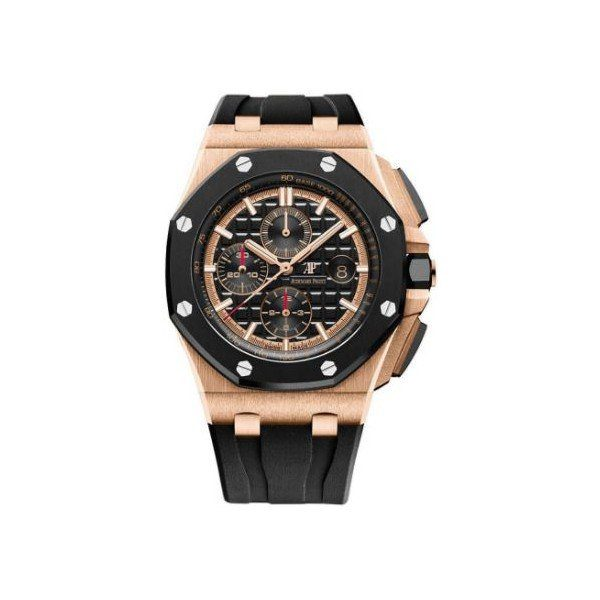AUDEMARS PIGUET ROYAL OAK OFFSHORE 18KT ROSE GOLD 44MM BLACK DIAL MEN'S WATCH