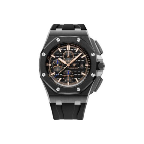 AUDEMARS PIGUET ROYAL OAK OFFSHORE CERAMIC 44MM BLACK DIAL MEN'S WATCH