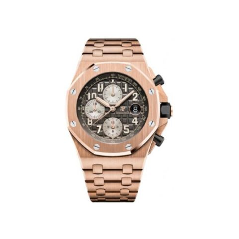 AUDEMARS PIGUET ROYAL OAK OFFSHORE 18KT ROSE GOLD 42MM X 54MM GOLD DIAL MEN'S WATCH