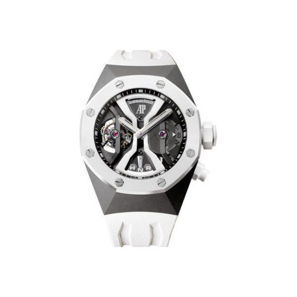 AUDEMARS PIGUET ROYAL OAK CONCEPT GMT TOURBILLON TITANIUM 44MM OPENWORKED DIAL MEN'S WATCH