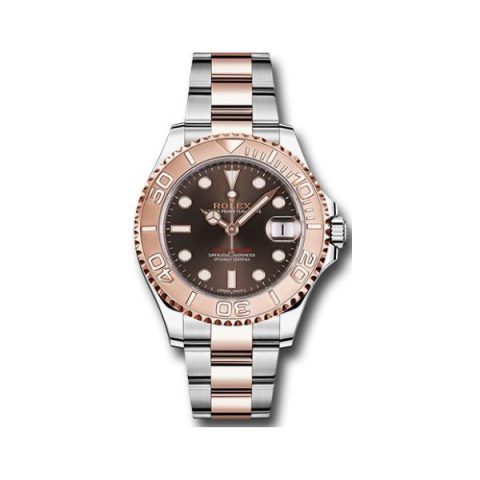 ROLEX YACHT MASTER 18KT ROSE GOLD 37MM MEN'S WATCH