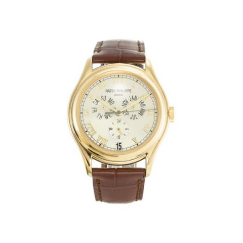 PATEK PHILIPPE ANNUAL CALENDAR ROMAN 18KT YELLOW GOLD 37MM CREAM DIAL MEN'S WATCH