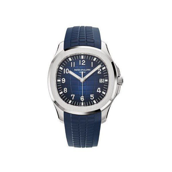 PATEK PHILIPPE AQUANAUT 18KT WHITE GOLD 42.2MM BLUE DIAL MEN'S WATCH