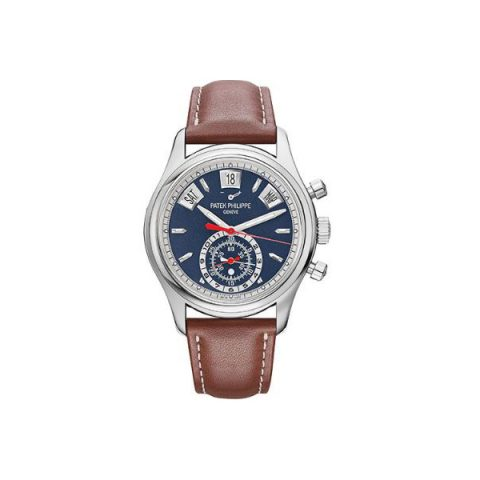 PATEK PHILIPPE COMPLICATIONS STAINLESS STEEL 40MM SILVERY OPALINE DIAL MEN'S WATCH