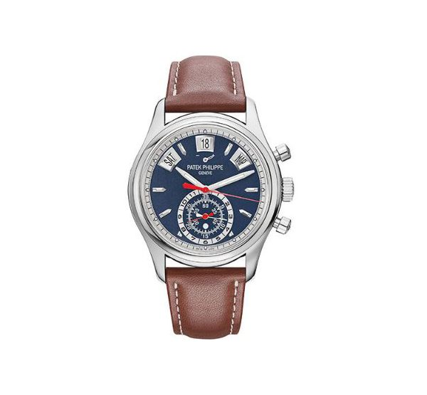 PATEK PHILIPPE COMPLICATIONS FLYBACK CHRONOGRAPH ANNUAL CALENDAR WATCH 5960/01G-001
