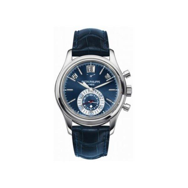 PATEK PHILIPPE COMPLICATIONS PLATINUM 40.5MM BLUE DIAL MEN'S WATCH