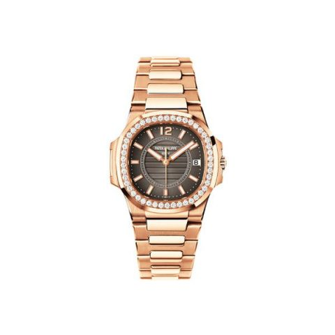 PATEK PHILIPPE NAUTILUS 7010/1R-010 ROSE GOLD WITH DIAMONDS CHARCOAL GREY DIAL LADIES WATCH Ref. 7010/1R-010