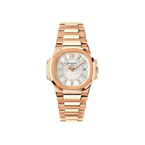 PATEK PHILIPPE NAUTILUS 18KT ROSE GOLD 32MM SILVER DIAL LADIES WATCH
