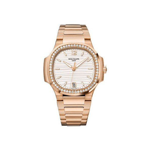 PATEK PHILIPPE NAUTILUS 18KT ROSE GOLD 35MM SILVER TONE DIAL LADIES WATCH