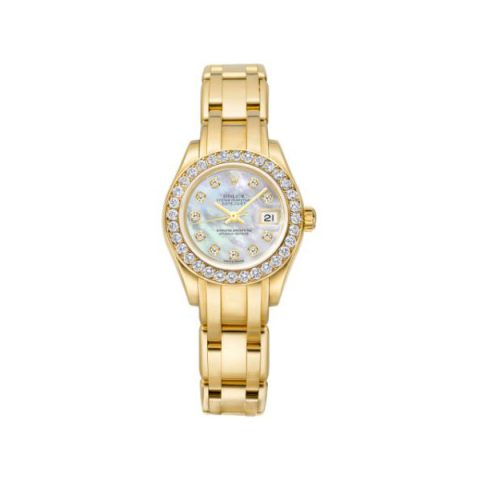ROLEX PEARLMASTER 18KT YELLOW GOLD 29MM LADIES WATCH