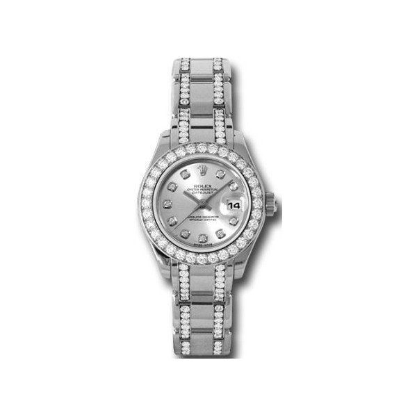 ROLEX OYSTER PERPETUAL DATEJUST 18KT WHITE GOLD 29MM LADIES WATCH