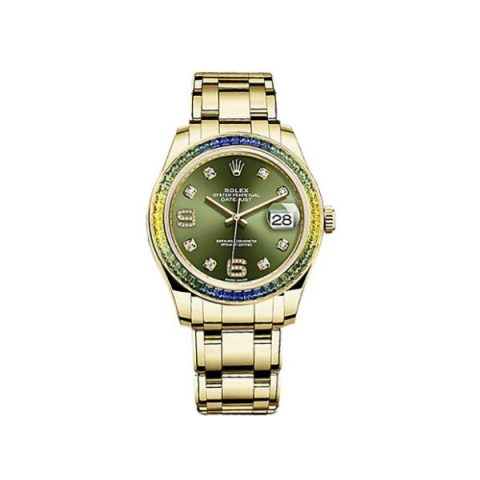 ROLEX OYSTER PERPETUAL PEARLMASTER 18KT YELLOW GOLD 39MM LADIES WATCH