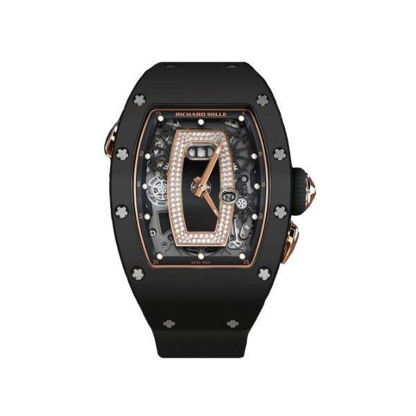 RICHARD MILLE RED GOLD ONYX & CERAMIC 52MM X 34MM LADIES WATCH