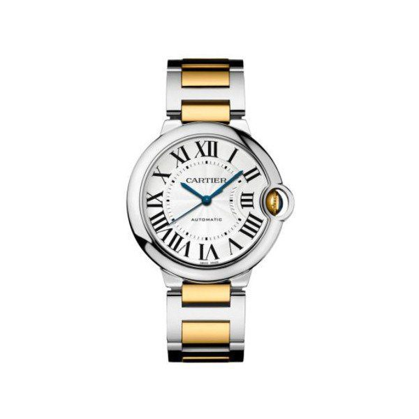 CARTIER BALLON BLEU STAINLESS STEEL & YELLOW GOLD 36MM LADIES WATCH