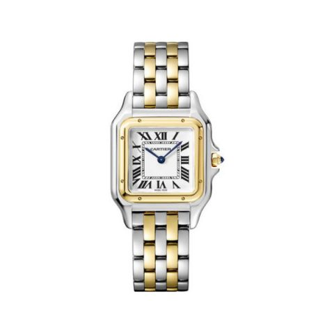 CARTIER PANTHERE DE CARTIER 18KT YELLOW GOLD & STEEL 27MM X 37MM LADIES WATCH