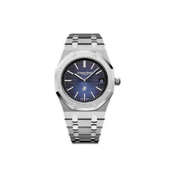 AUDEMARS PIGUET ROYAL OAK JUMBO EXTRA-THIN TITANIUM 39MM SMOKED BLUE DIAL MEN'S WATCH