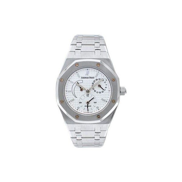 AUDEMARS PIGUET ROYAL OAK STAINLESS STEEL 36MM WHITE DIAL MEN'S WATCH