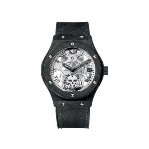 HUBLOT CLASSIC FUSION TOURBILLON SKULL CERAMIC 45MM MEN'S WATCH