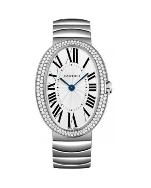 CARTIER BAIGNOIRE 18KT WHITE GOLD 44MM LADIES WATCH