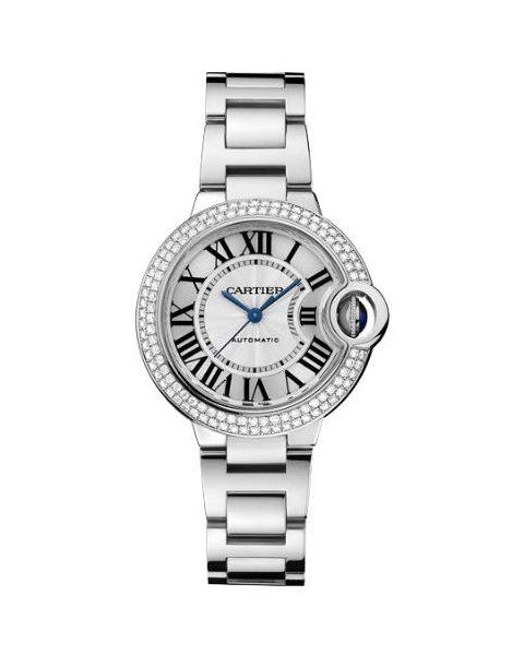 CARTIER BALLON BLEU 18KT WHITE GOLD 33MM LADIES WATCH