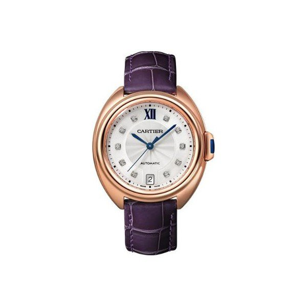 CARTIER CLE DE CARTIER 18KT PINK GOLD 35MM LADIES WATCH