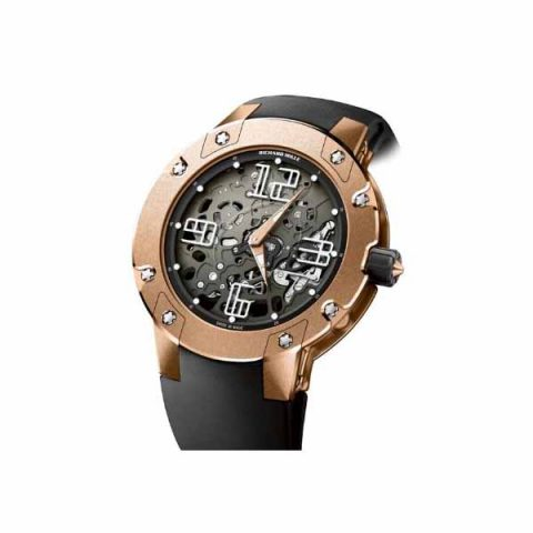 RICHARD MILLE EXTRA FLAT AUTOMATIC 18KT PINK GOLD 46 MM MEN'S WATCH