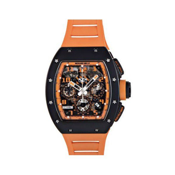 RICHARD MILLE FELIPE MASSA ORANGE STORM CARBON/CERAMIC 50 X 40 MM MEN'S WATCH