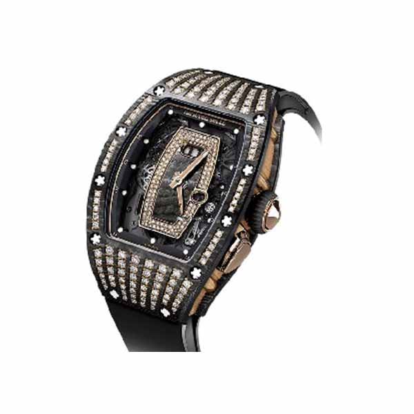 RICHARD MILLE DIAMOND SET NTPT CARBON LADIES WATCH